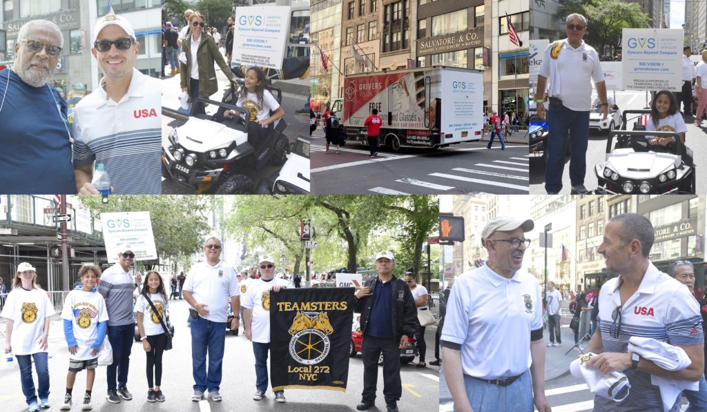 GVS' Tony Rosario and Heather Brown enjoy the Labor Day Parade, walking alongside George Miranda (Vice President, International Teamsters), Chris Silvera (Secretary-Treasurer, Teamsters Local 808) and Matthew Bruccoleri (Business Manager, Teamsters Local 272).